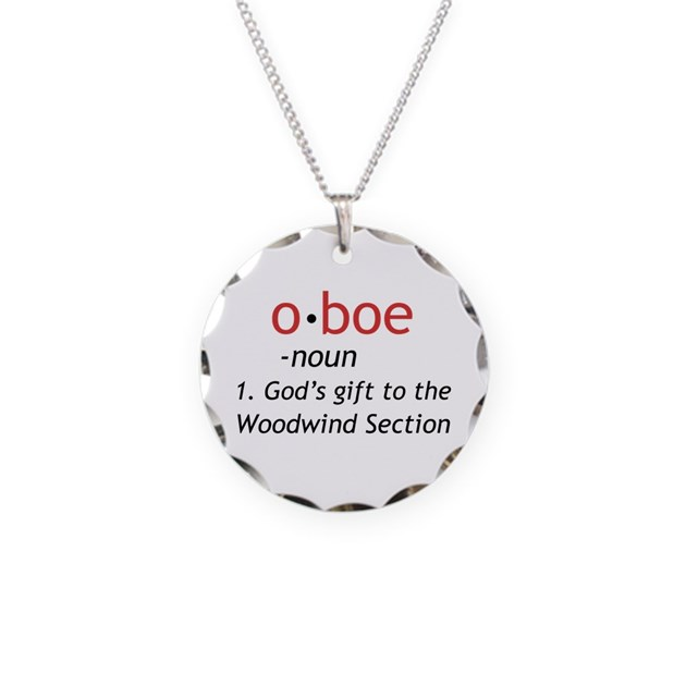 Oboe Definition Necklace Circle Charm by orchestrastuff