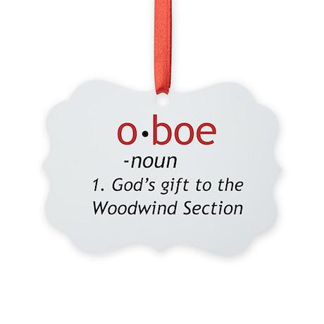 Oboe Definition Picture Ornament