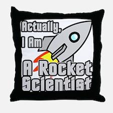 Rocket Scientist Throw Pillow
