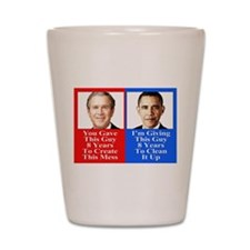 Give Obama 8 Years Shot Glass
