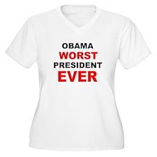 anti obama worst presdarkbumplL.png T-Shirt