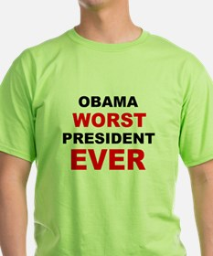 anti obama worst presdarkbumplL.png T-Shirt