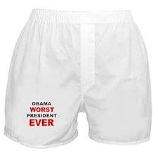 anti obama worst presdarkbumplL.png Boxer Shorts