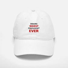 anti obama worst presdarkbumplL.png Baseball Baseball Cap