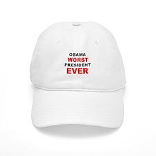 anti obama worst presdarkbumplL.png Baseball Cap