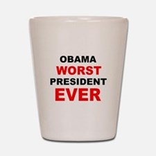 anti obama worst presdarkbumplL.png Shot Glass