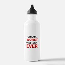 anti obama worst presdarkbumplL.png Water Bottle