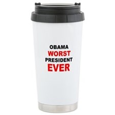 anti obama worst presdarkbumplL.png Travel Mug