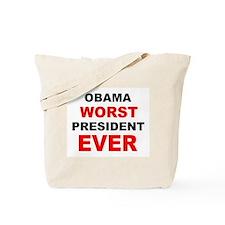 anti obama worst presdarkbumplL.png Tote Bag