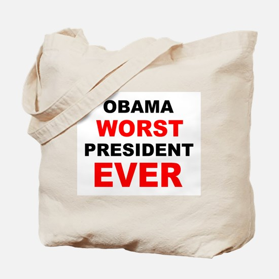 anti obama worst presdarkbumplL.png Tote Bag