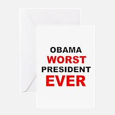 anti obama worst presdarkbumplL.png Greeting Card