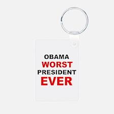 anti obama worst presdarkbumplL.png Keychains