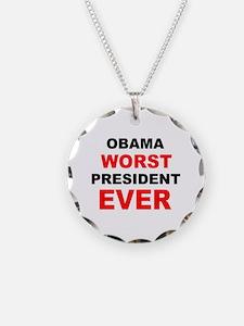 anti obama worst presdarkbumplL.png Necklace Circl