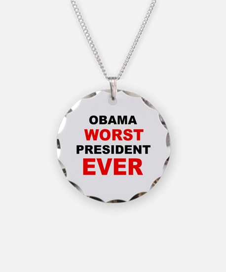 anti obama worst presdarkbumplL.png Necklace Circl