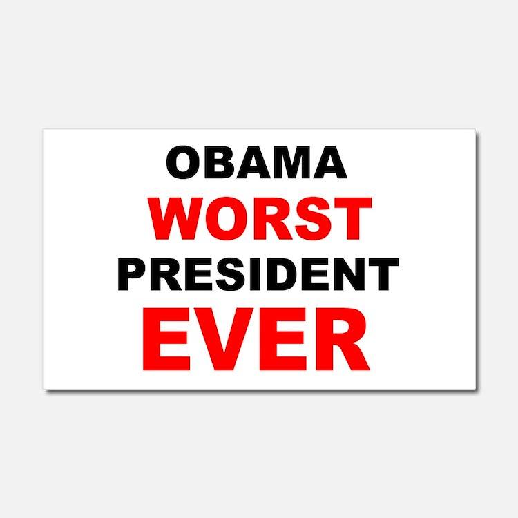 anti obama worst presdarkbumplL.png Car Magnet 20