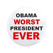 """anti obama worst presdarkbumplL.png 3.5"""" Button (1"""