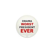 anti obama worst presdarkbumplL.png Mini Button (1