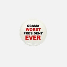 anti obama worst presdarkbumplL.png Mini Button (1