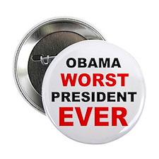 """anti obama worst presdarkbumplL.png 2.25"""" Button"""