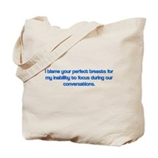 Funny Perfect Breasts Tote Bag