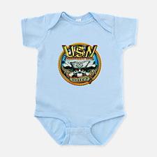 USN Roped Boatswains Mate Skull Infant Bodysuit