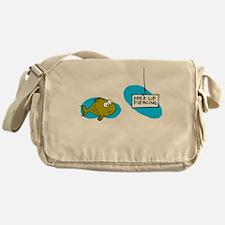 Lip Piercing Messenger Bag