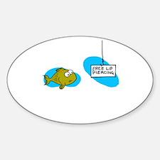 Lip Piercing Sticker (Oval)