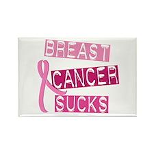 Breast Cancer Sucks 3 Rectangle Magnet