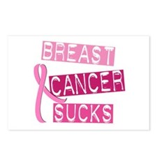 Breast Cancer Sucks 3 Postcards (Package of 8)