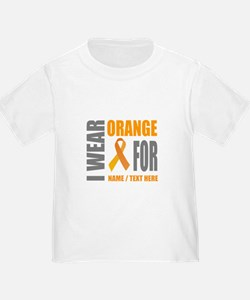 Orange Awareness Ribbon Customized T