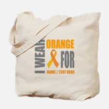 Orange Awareness Ribbon Customized Tote Bag