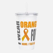 Orange Awareness Ribbo Acrylic Double-wall Tumbler