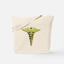 Gold Medical Emblem Tote Bag