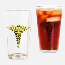 Gold Medical Emblem Drinking Glass