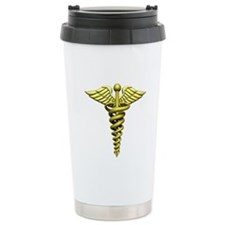 Gold Medical Emblem Travel Mug