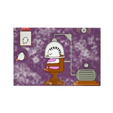 Beauty Parlor Accident Rectangle Magnet