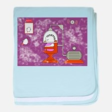 Beauty Parlor Accident baby blanket
