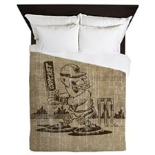 Vintage Cricket Queen Duvet