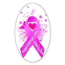 Pink Ribbon Vintage Decal