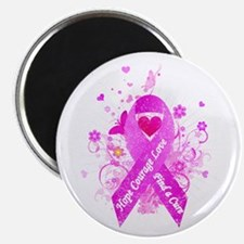 """Pink Ribbon Vintage 2.25"""" Magnet (10 pack)"""