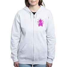 Pink Ribbon Vintage Zip Hoodie