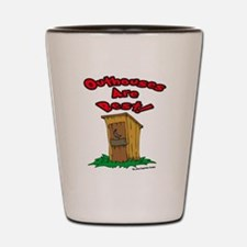 Funny Outhouse Shot Glass