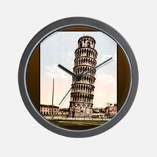 Vintage Leaning Tower Of Pisa Wall Clock