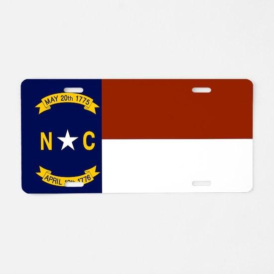 North Carolina United States Flag Aluminum License