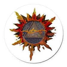 Sacred Symbol Recovery Round Car Magnet