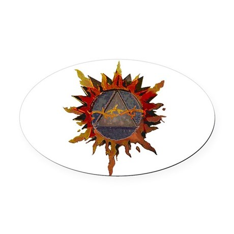 Sacred Symbol Recovery Oval Car Magnet
