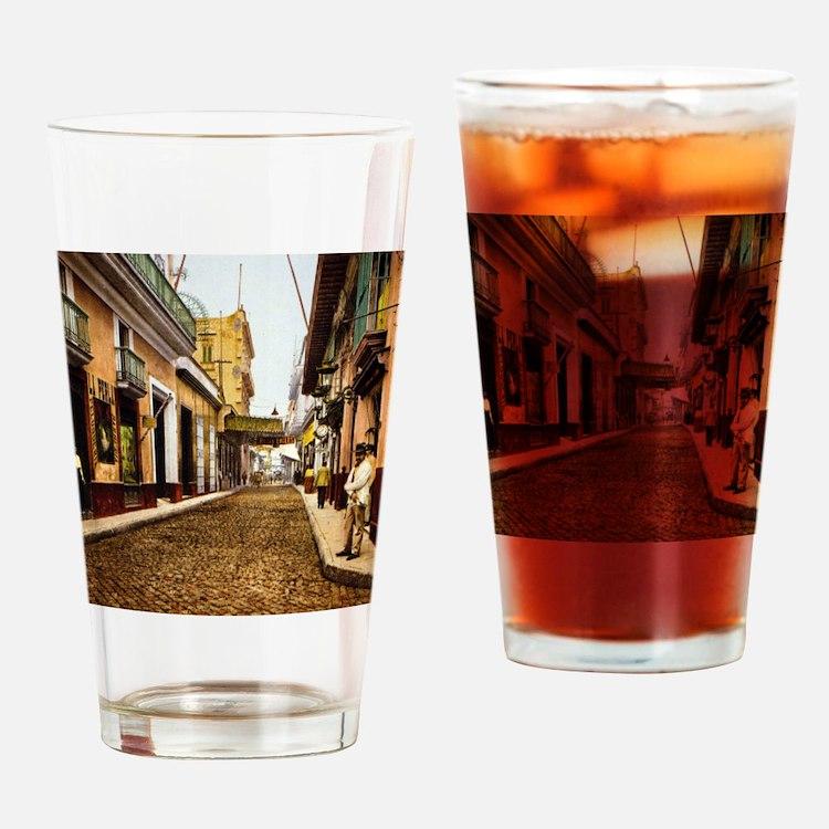 Calle de Habana Drinking Glass