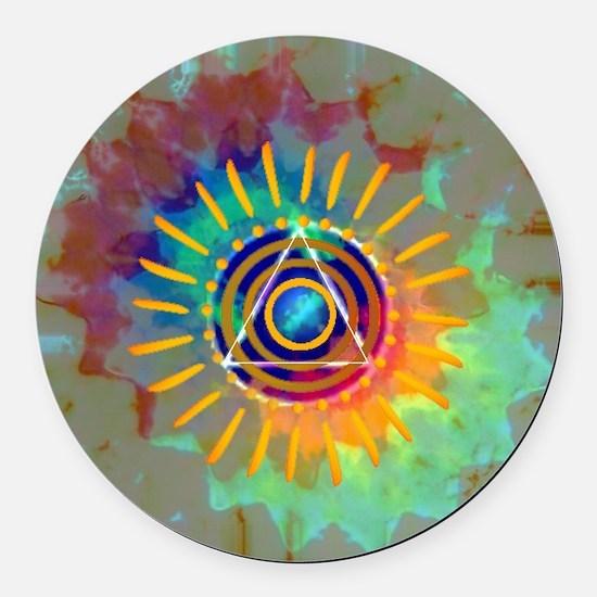 Sobrietyaustin.jpg Round Car Magnet