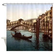Vintage Rialto Bridge Shower Curtain