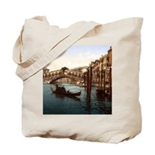 Vintage Rialto Bridge Tote Bag
